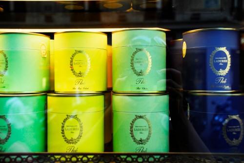 potinhos de chá