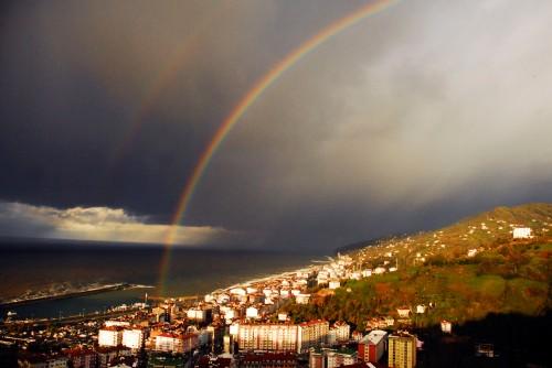 foto maravilhosa arco iris pq