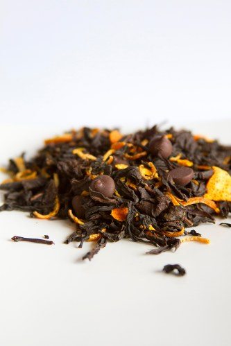 CHOKOLAT cha preto chocolate meio amargo laranja tangerina